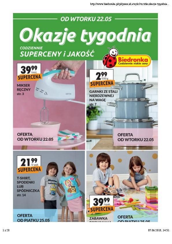 Biedronka, gazetka do 19.06.2018  s1