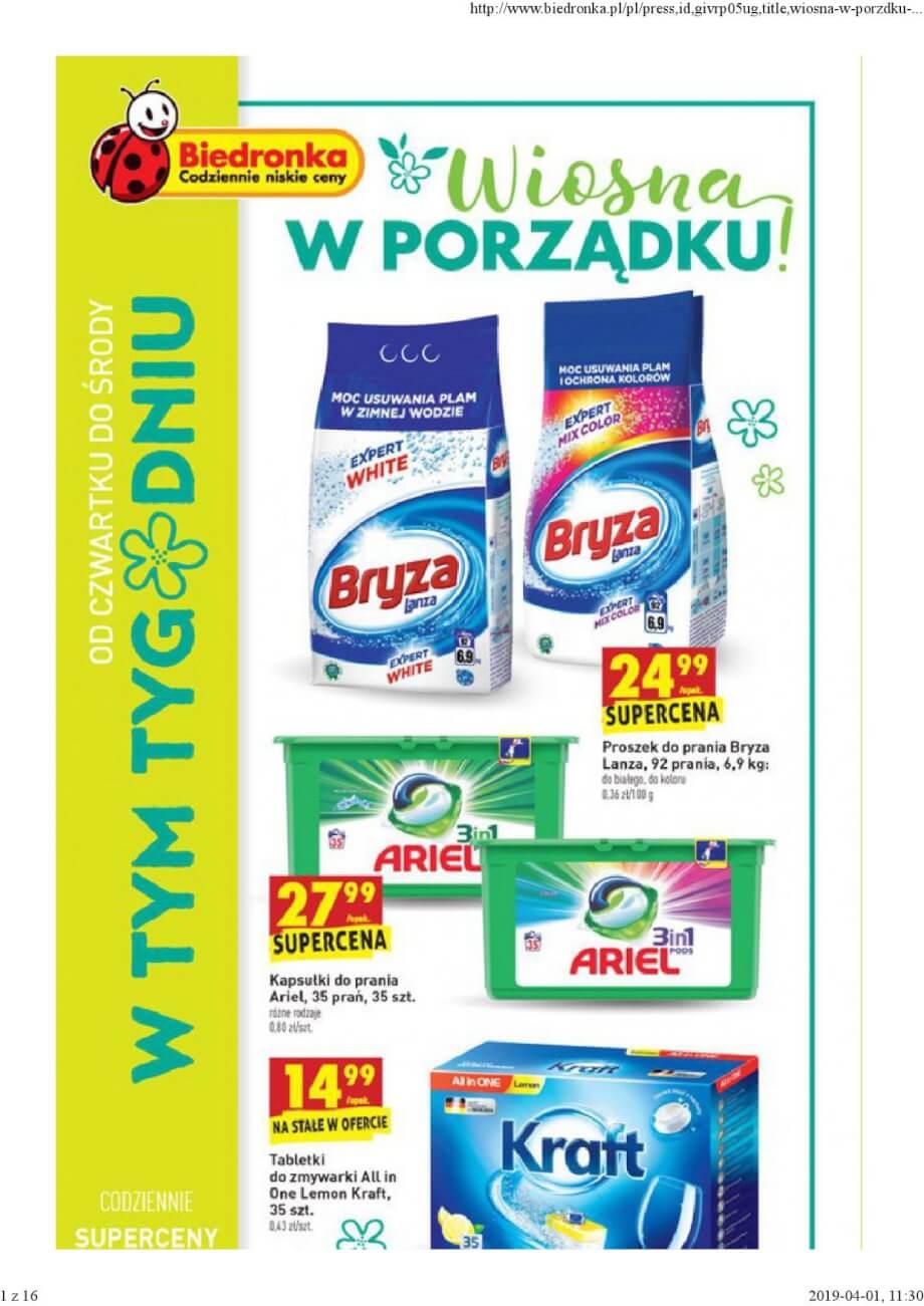 Biedronka, gazetka do 03.04.2019  s1