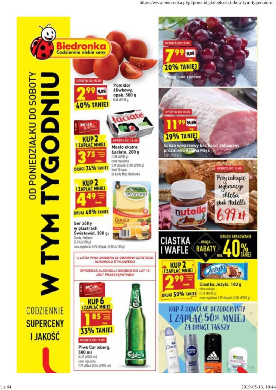 Biedronka, gazetka do 18.05.2019  s1