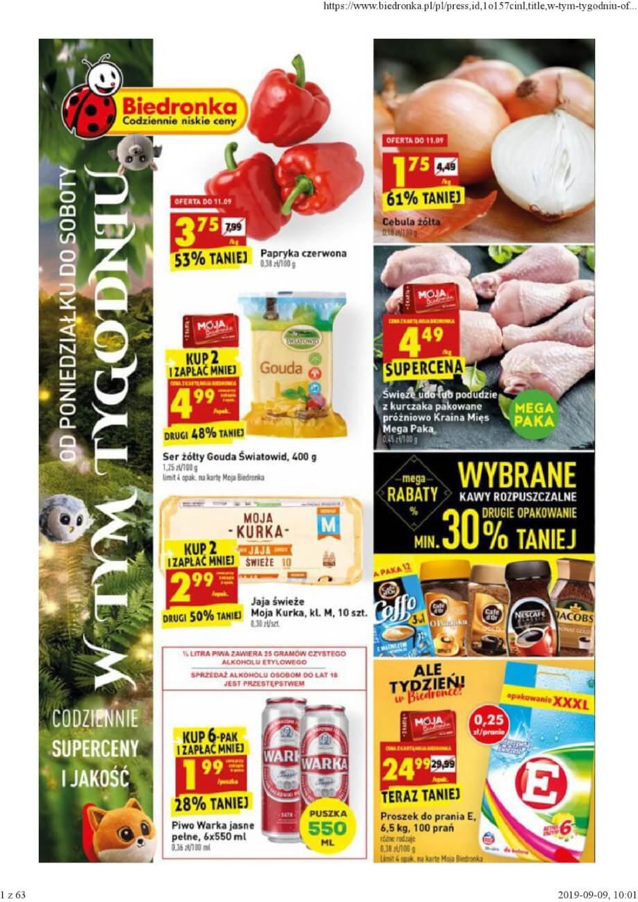 Biedronka, gazetka do 14.09.2019  s1