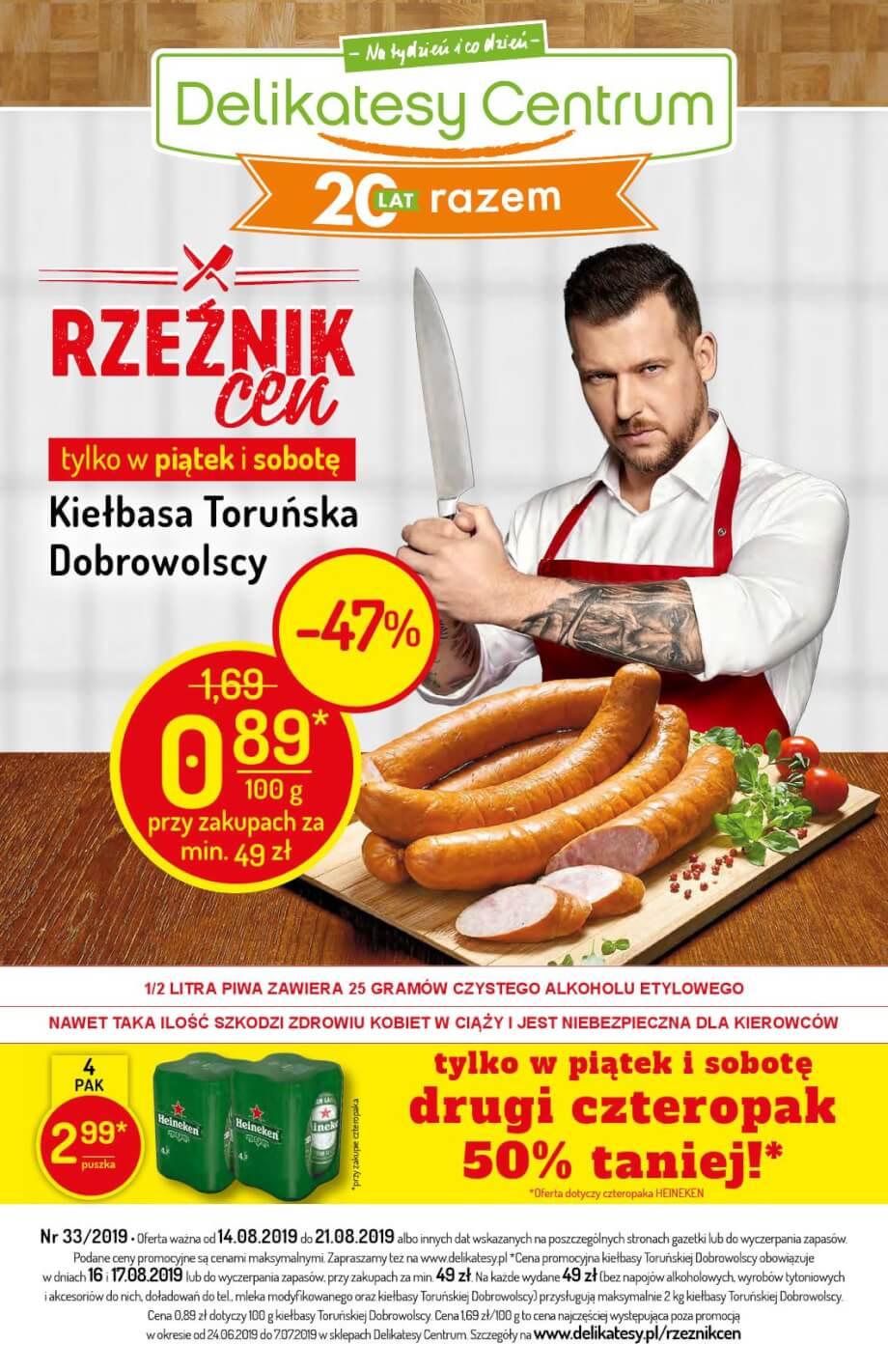 Delikatesy Centrum, gazetka do 21.08.2019  s1