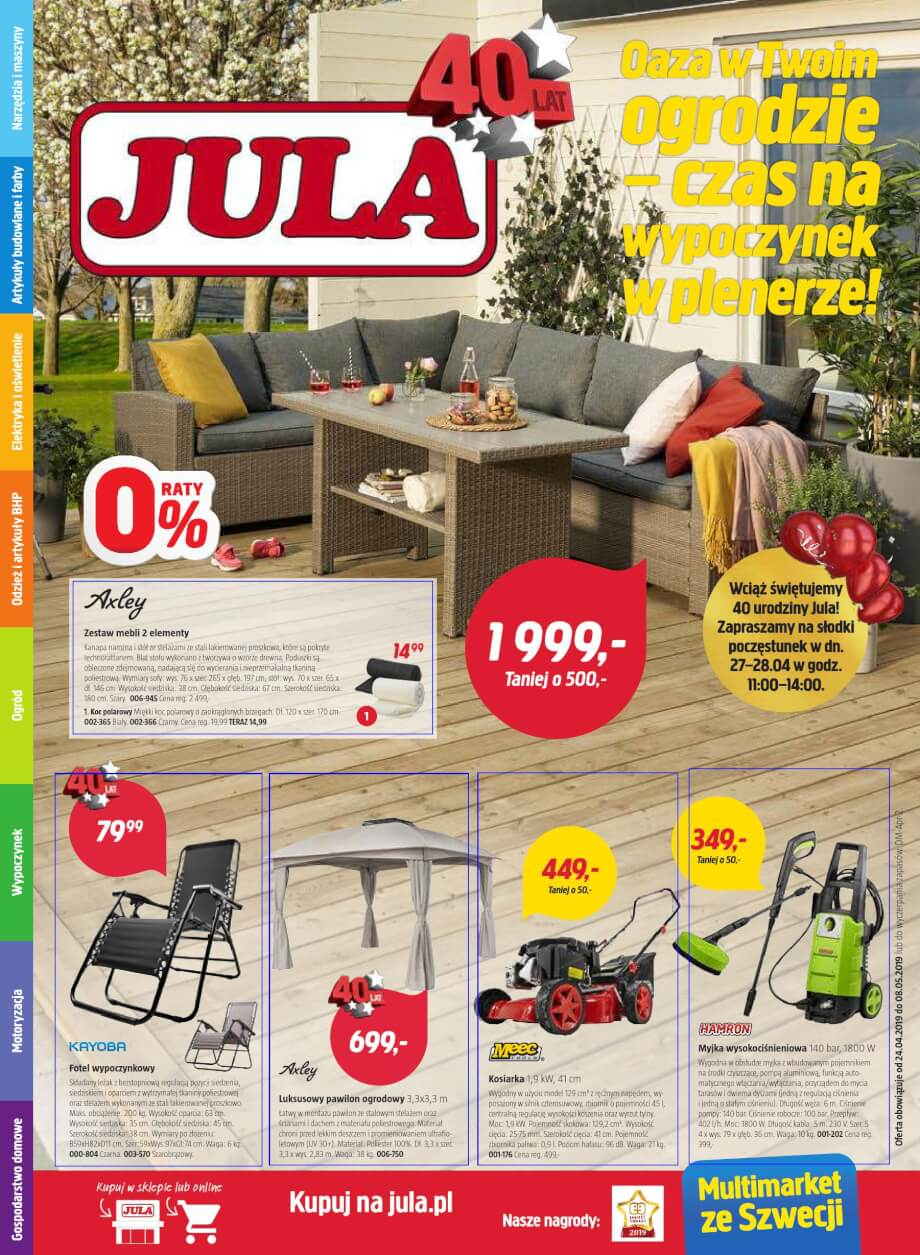 Jula, gazetka do 08.05.2019  s1