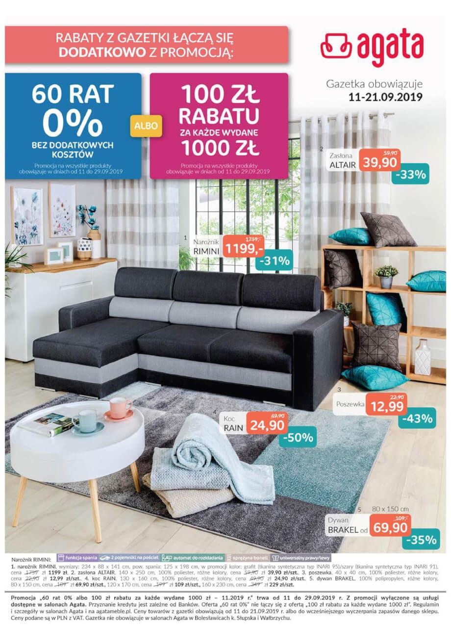 Agata, gazetka do 21.09.2019  s1