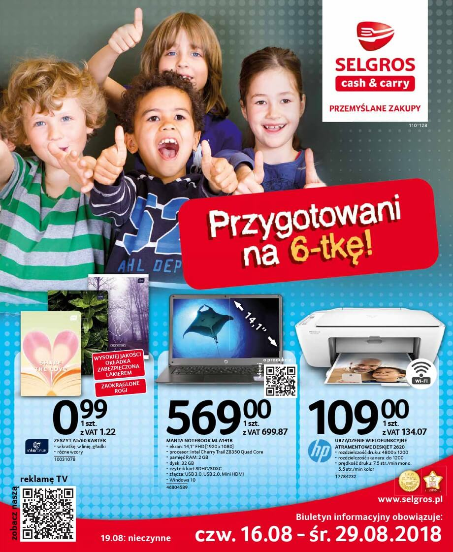 Selgros Cash and Carry, gazetka do 29.08.2018  s1