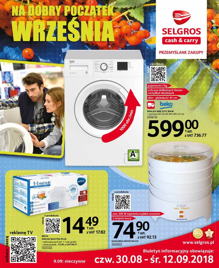 Selgros Cash and Carry, gazetka do 12.09.2018  s1
