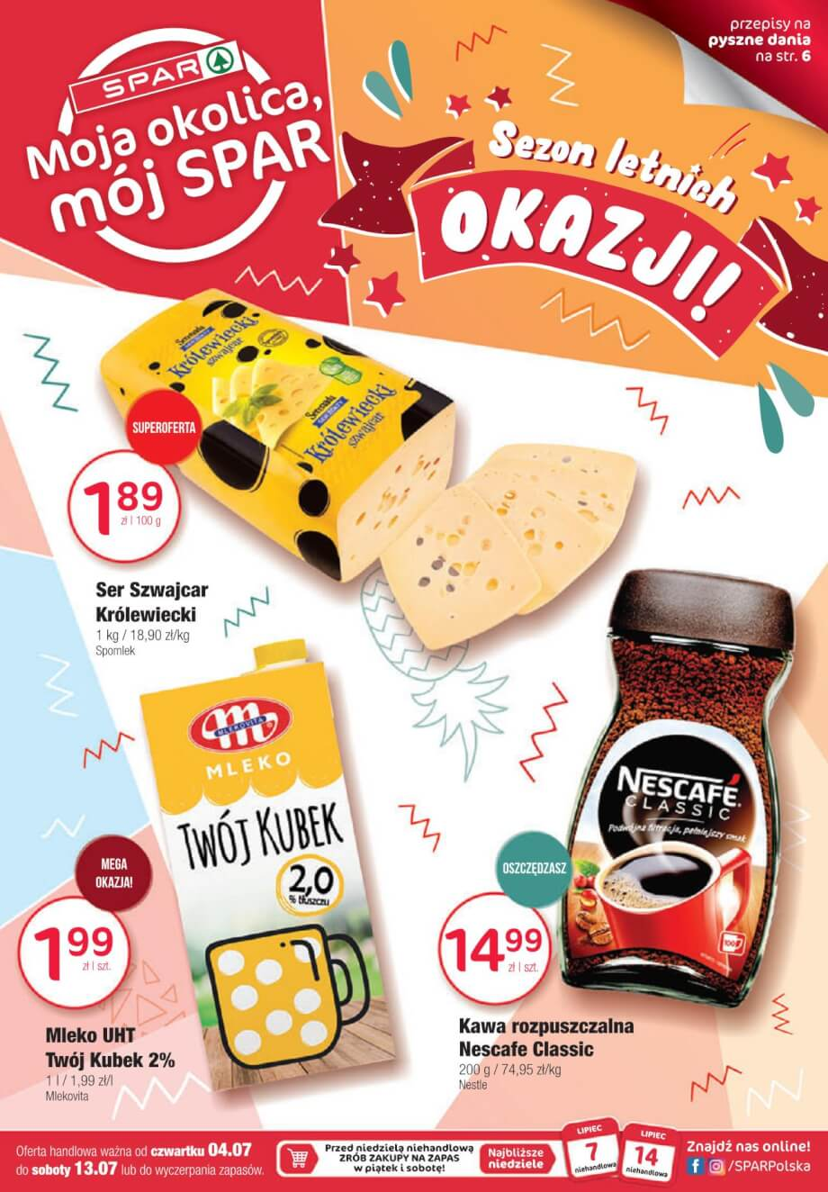 Spar, gazetka do 13.07.2019  s1