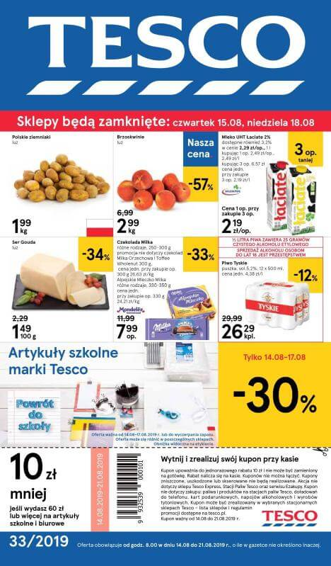 Tesco, gazetka do 21.08.2019  s1