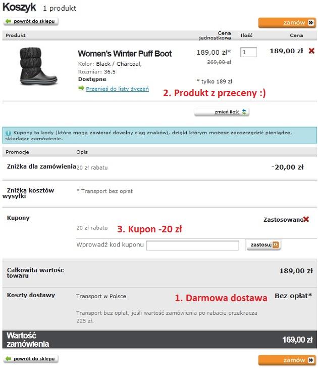 crocs.pl - zakupowe combo do 06.01.2013