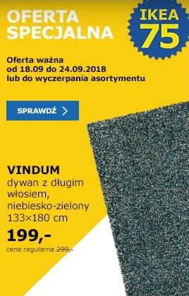 Dywan VINDUM taniej o 100 zł w Ikea.