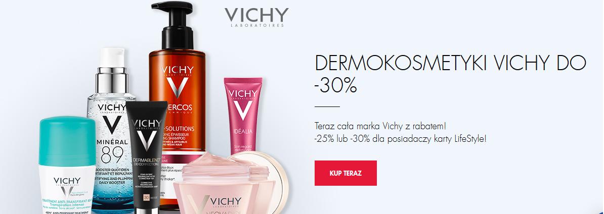 Cała marka Vichy z rabatem do 30%.
