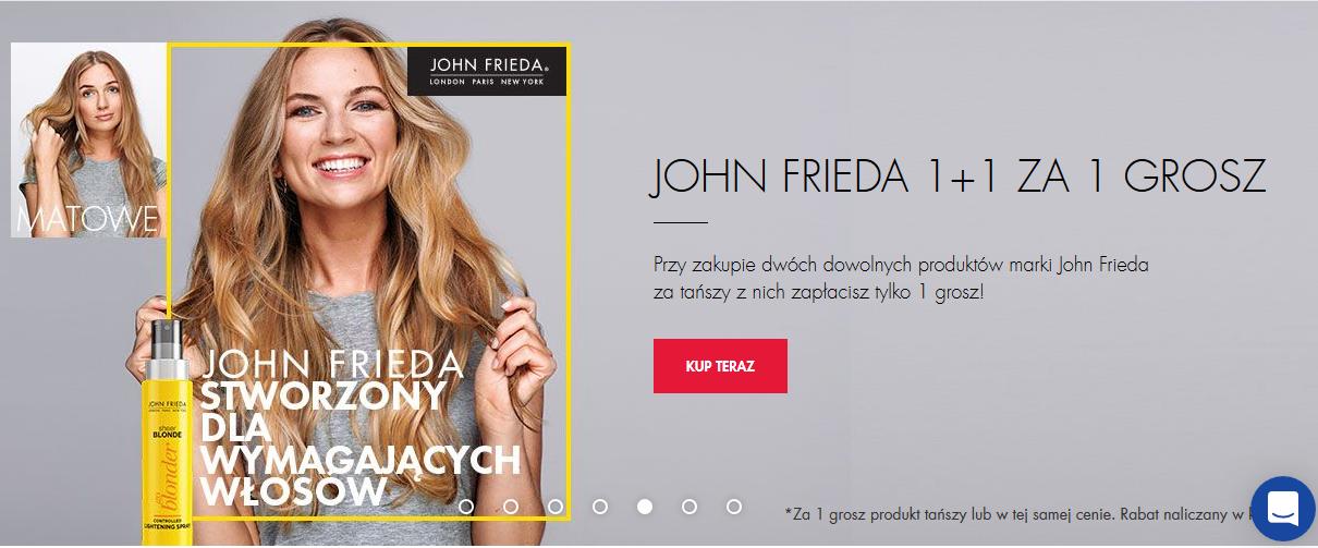 Promocja na produkty marki John Freida.