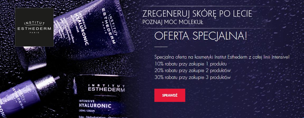 Przy zakupie 3 kosmetyków marki Institut Esthederm.