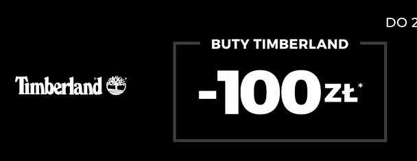 Rabat do 100 zł na wybrane buty Timberland.