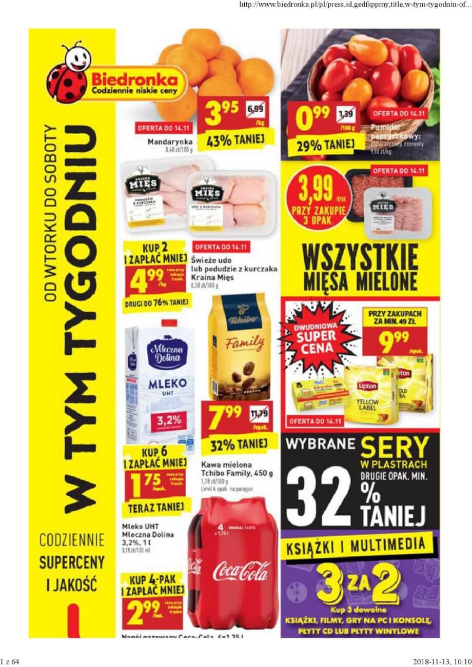 Biedronka, gazetka do 17.11.2018