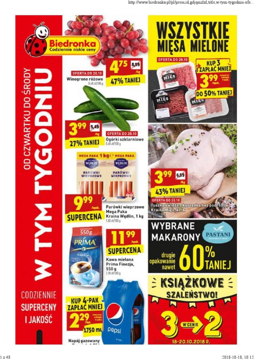 Biedronka, gazetka do 24.10.2018