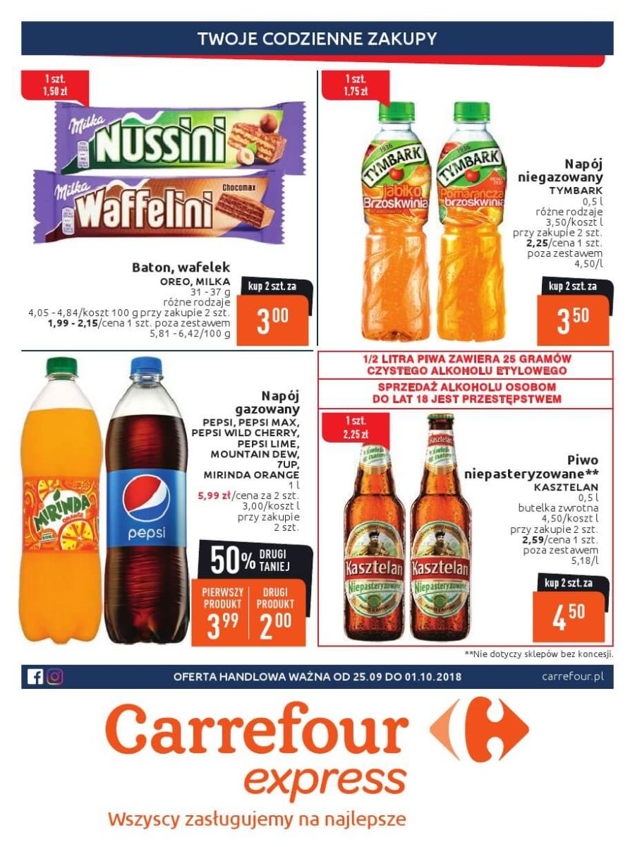 Carrefour Express, gazetka do 01.10.2018