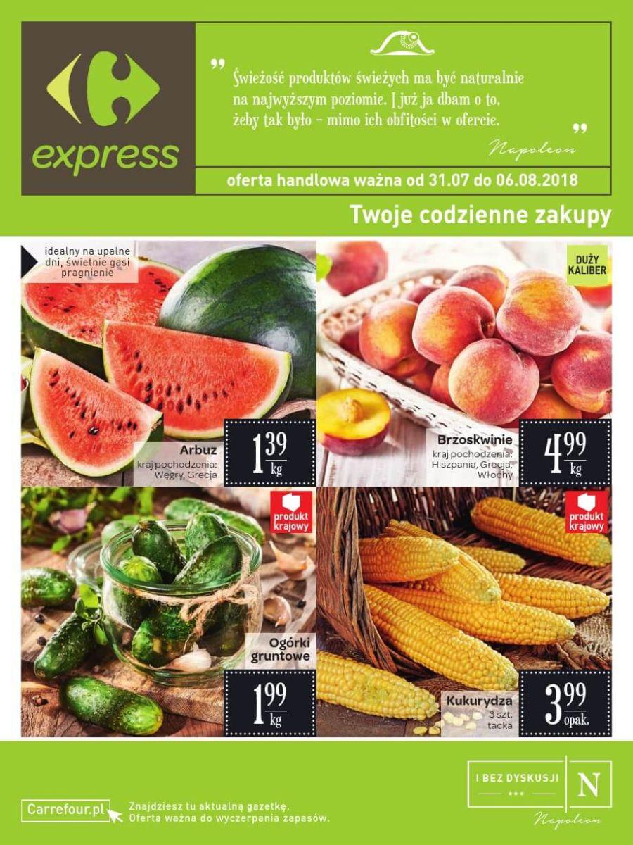 Carrefour Express, gazetka do 06.08.2018