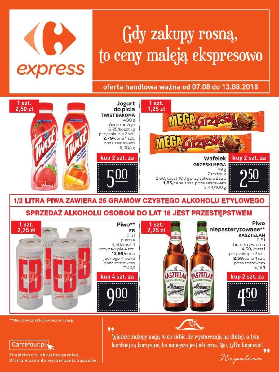 Carrefour Express, gazetka do 13.08.2018