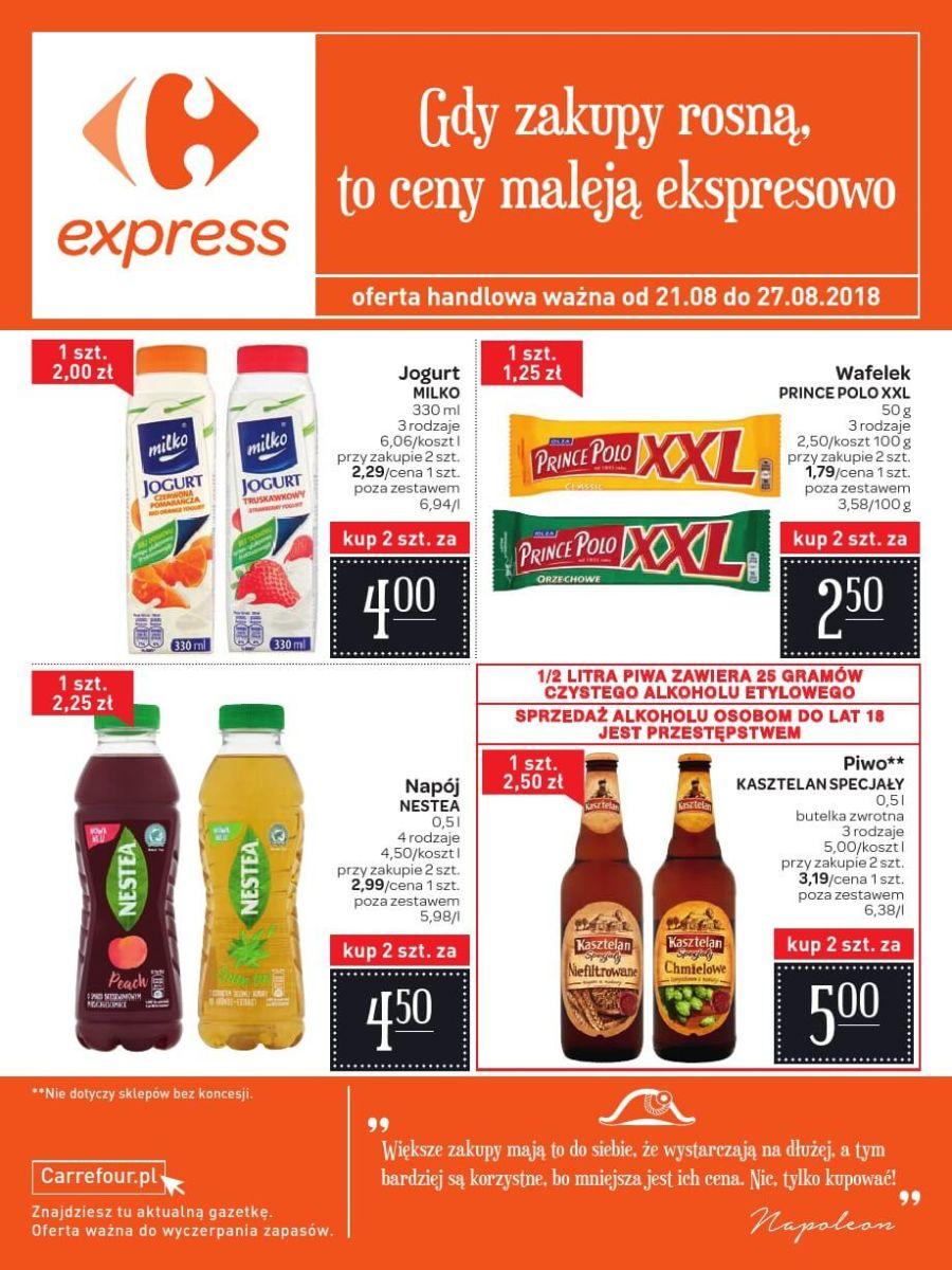 Carrefour Express, gazetka do 27.08.2018