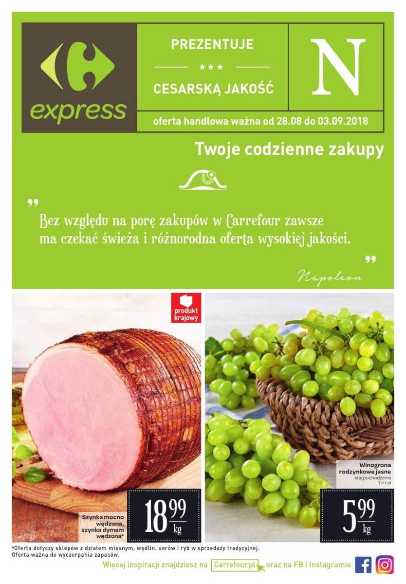Carrefour Express, gazetka do 03.09.2018