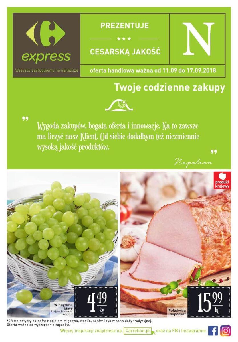 Carrefour Express, gazetka do 17.09.2018
