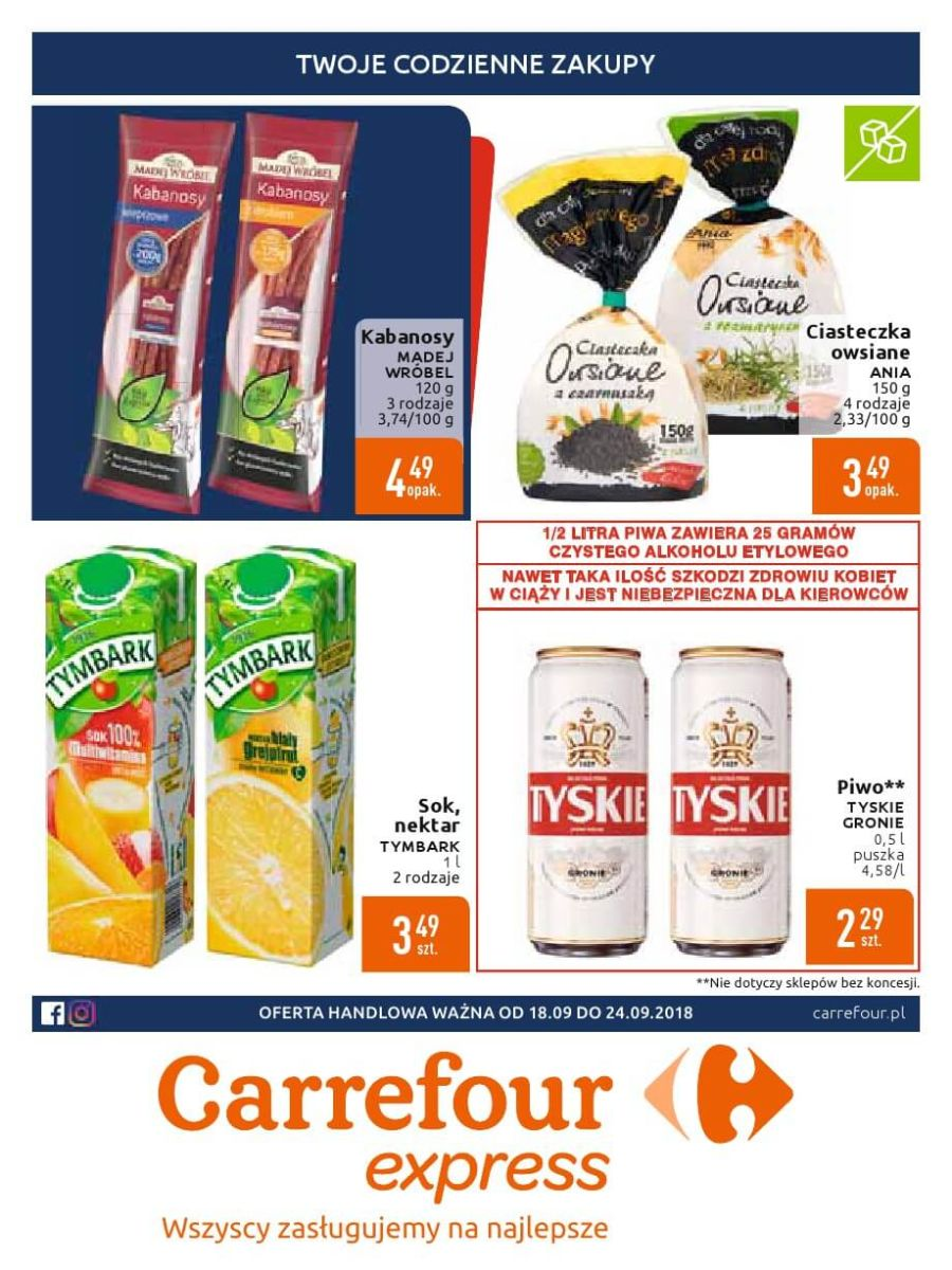 Carrefour Express, gazetka do 24.09.2018