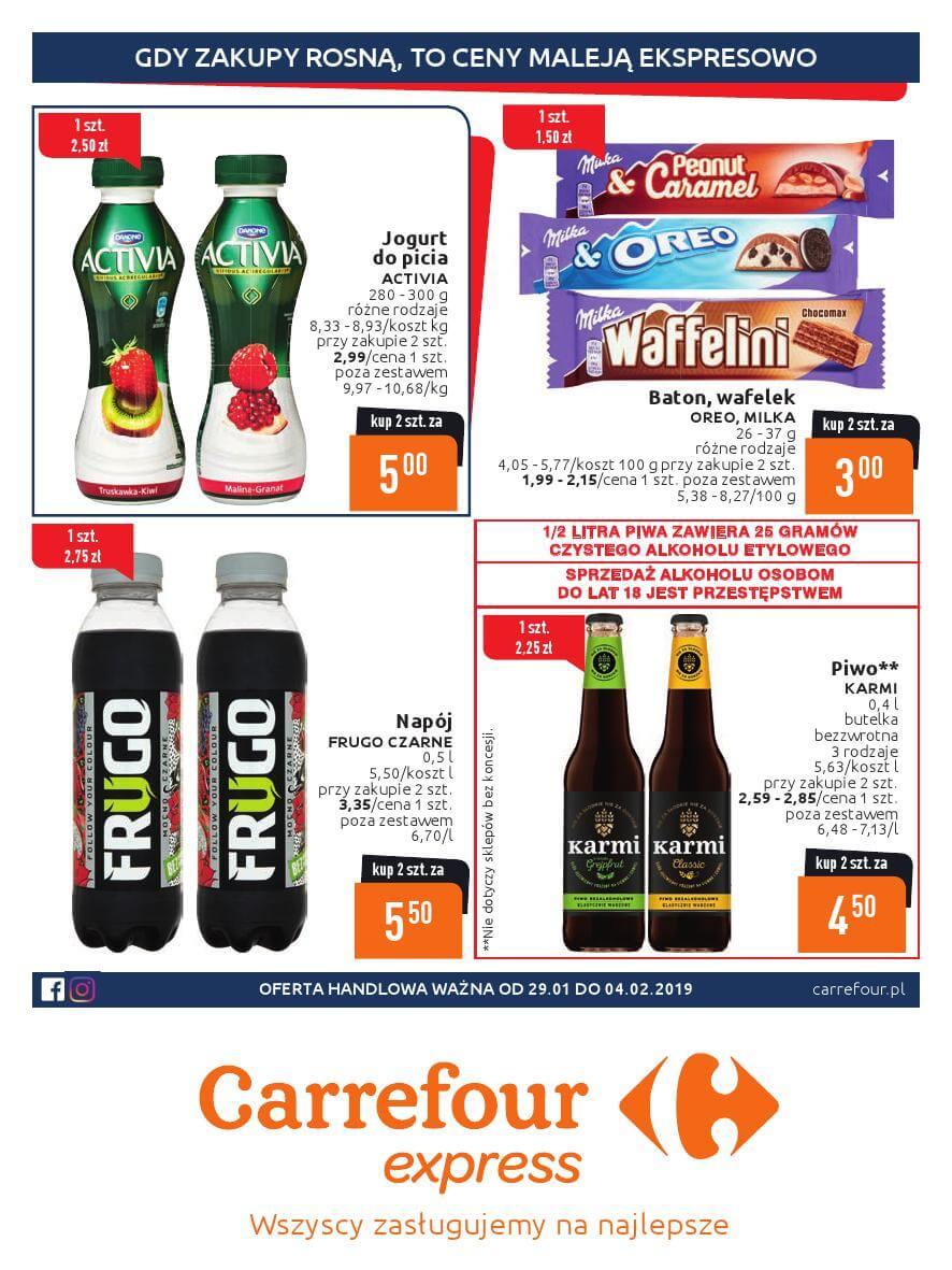 Carrefour Express. gazetka do 04.02.2019