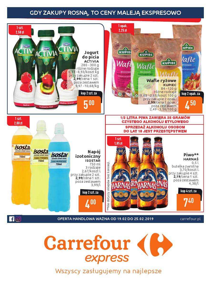 Carrefour Express, gazetka do 25.02.2019