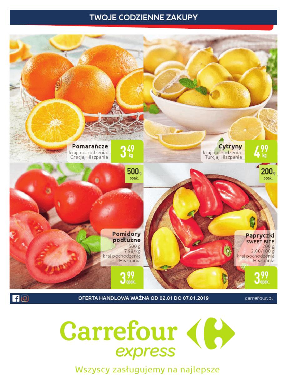 Carrefour Express, gazetka do 07.01.2019