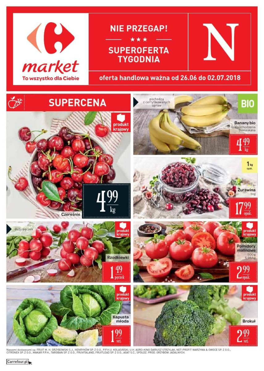 Carrefour Market, gazetka do 02.07.2018