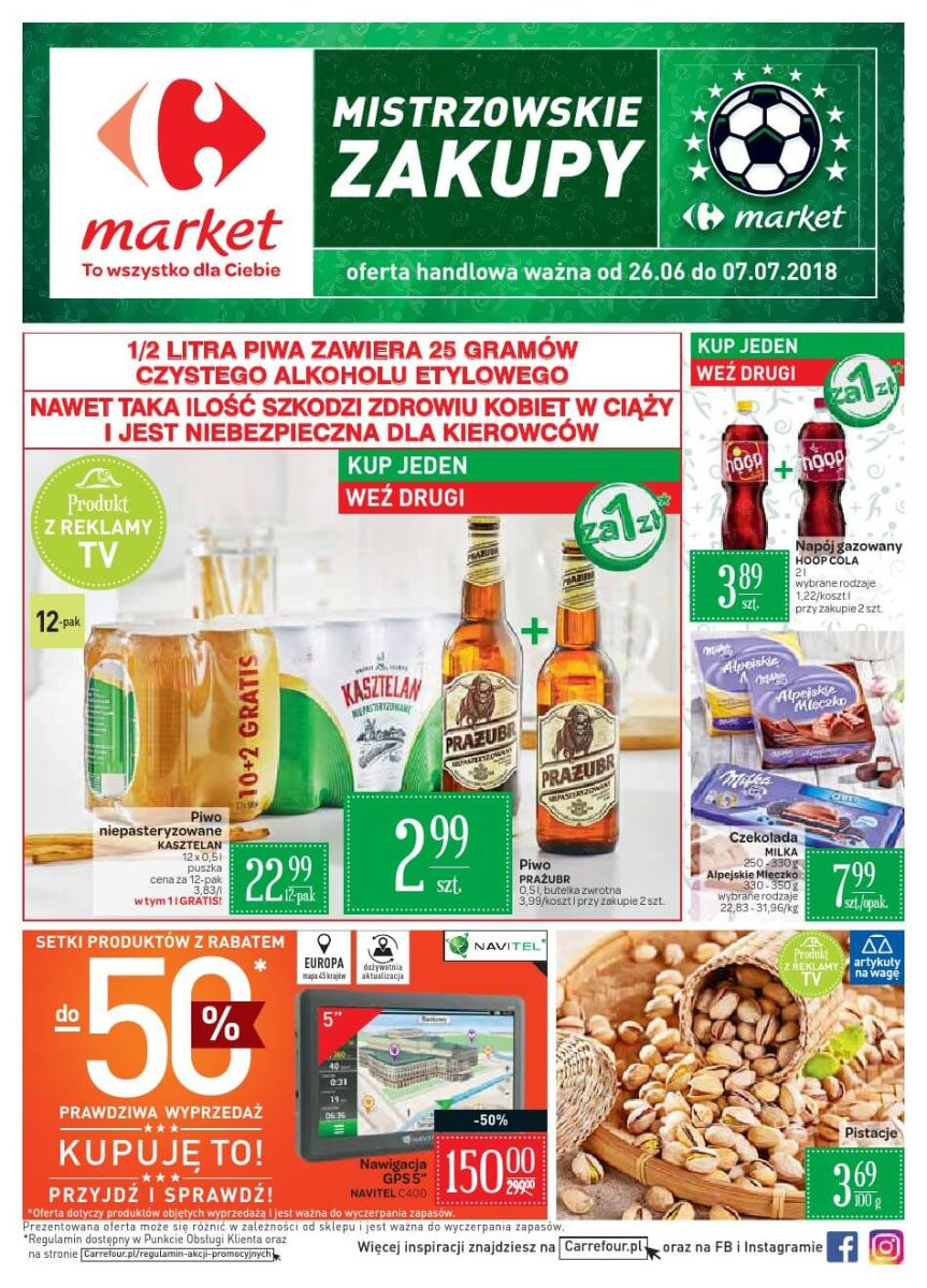 Carrefour Market, gazetka do 07.07.2018