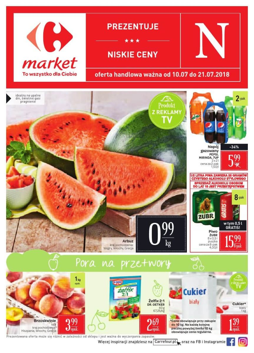 Carrefour Market, gazetka do 21.07.2018