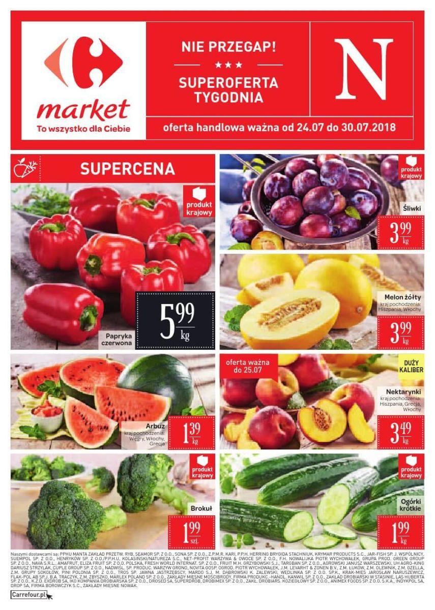 Carrefour Market, gazetka do 30.07.2018