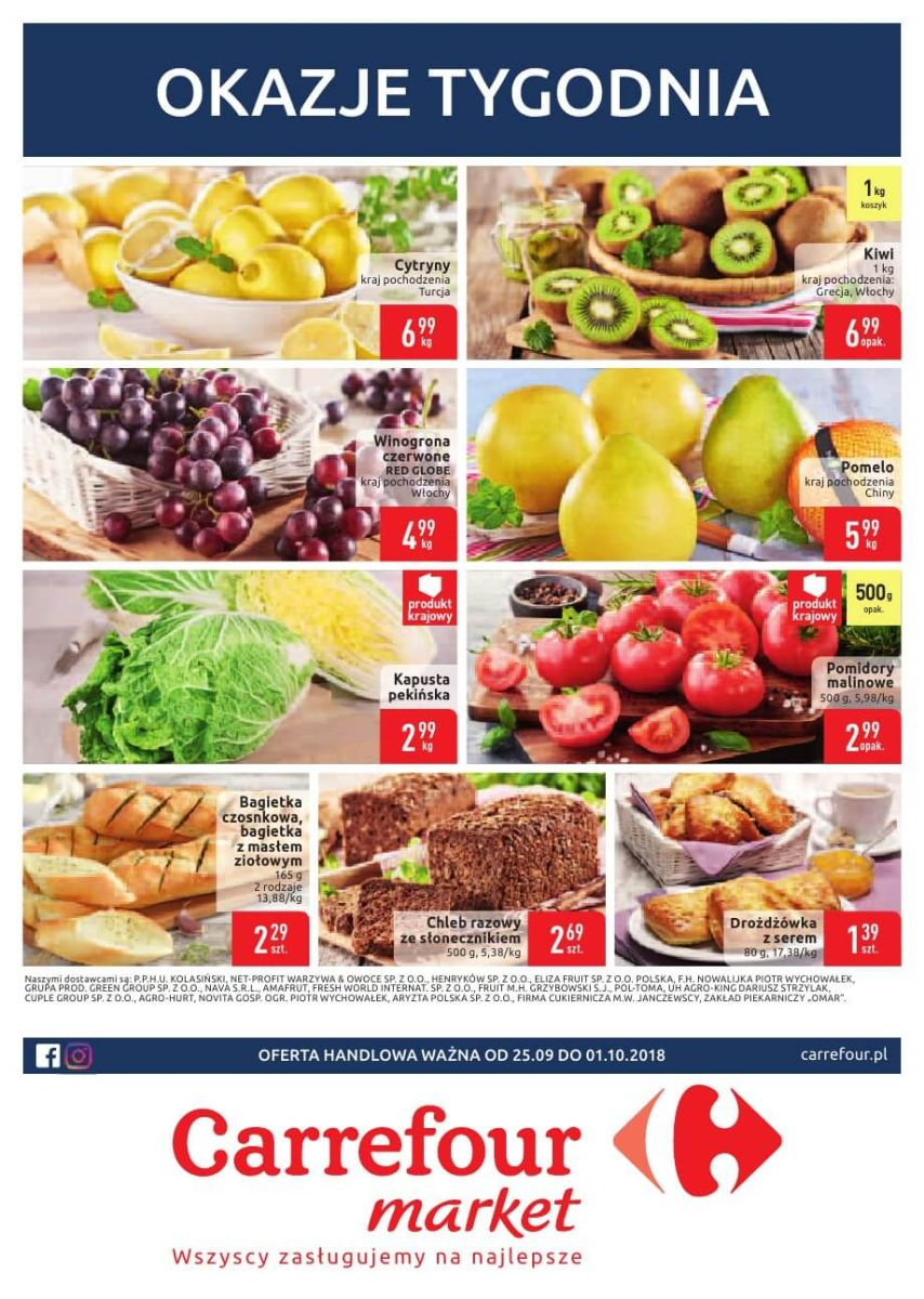 Carrefour Market, gazetka do 01.10.2018