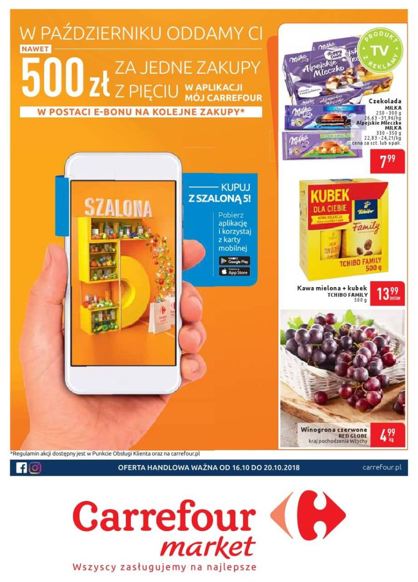 Carrefour Market, gazetka do 20.10.2018