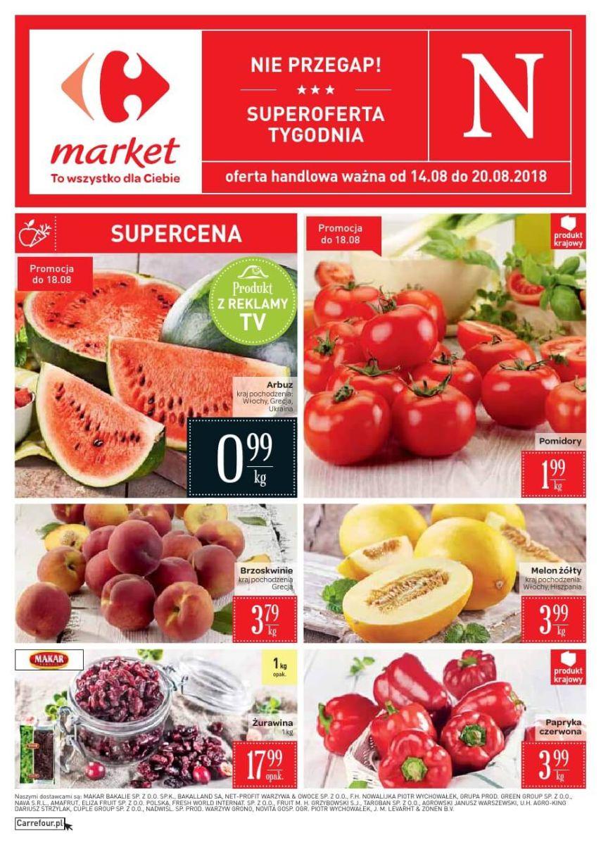 Carrefour Market, gazetka do 20.08.2018