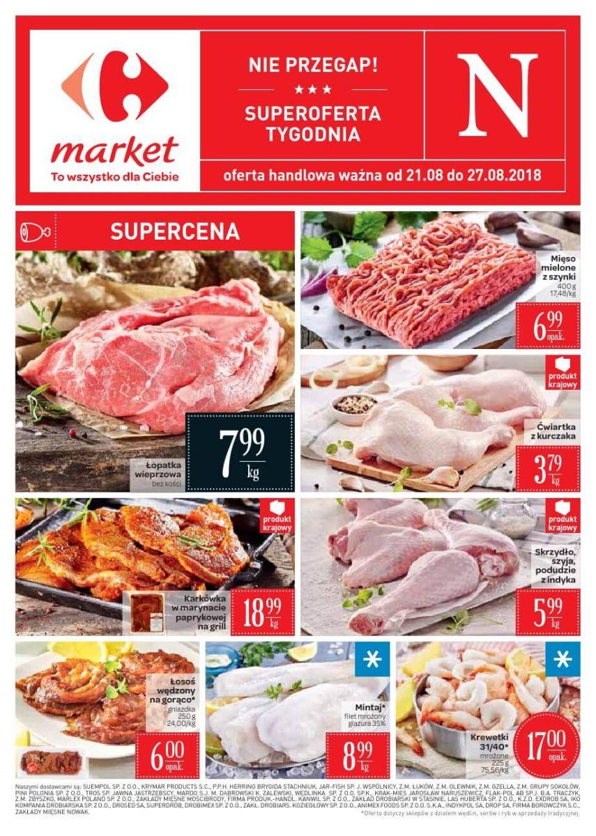 Carrefour Market, gazetka do 27.08.2018