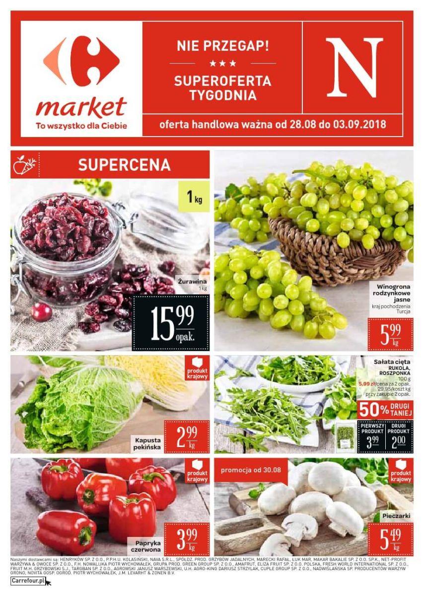 Carrefour Market, gazetka do 03.09.2018