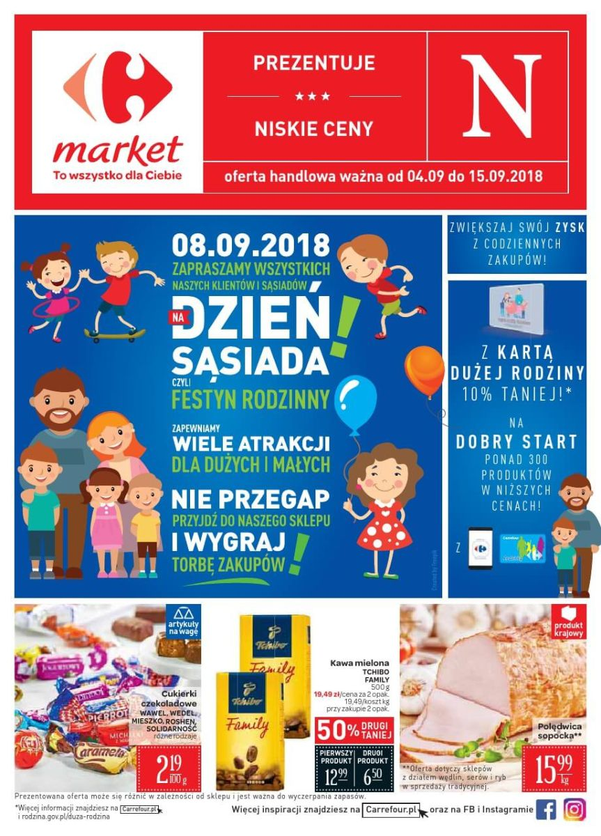 Carrefour Market, gazetka do 15.09.2018