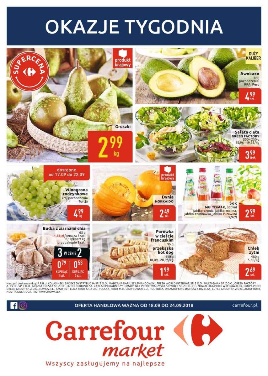 Carrefour Market, gazetka do 24.09.2018
