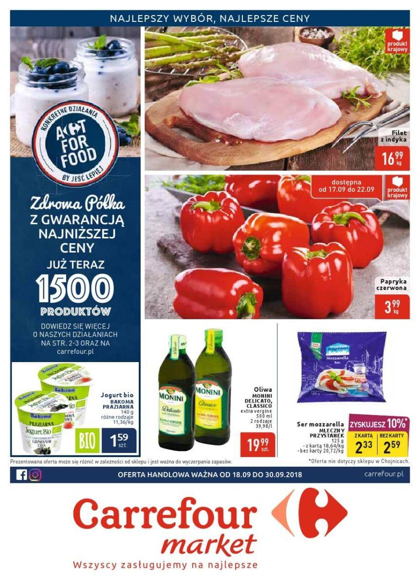 Carrefour Market, gazetka do 30.09.2018