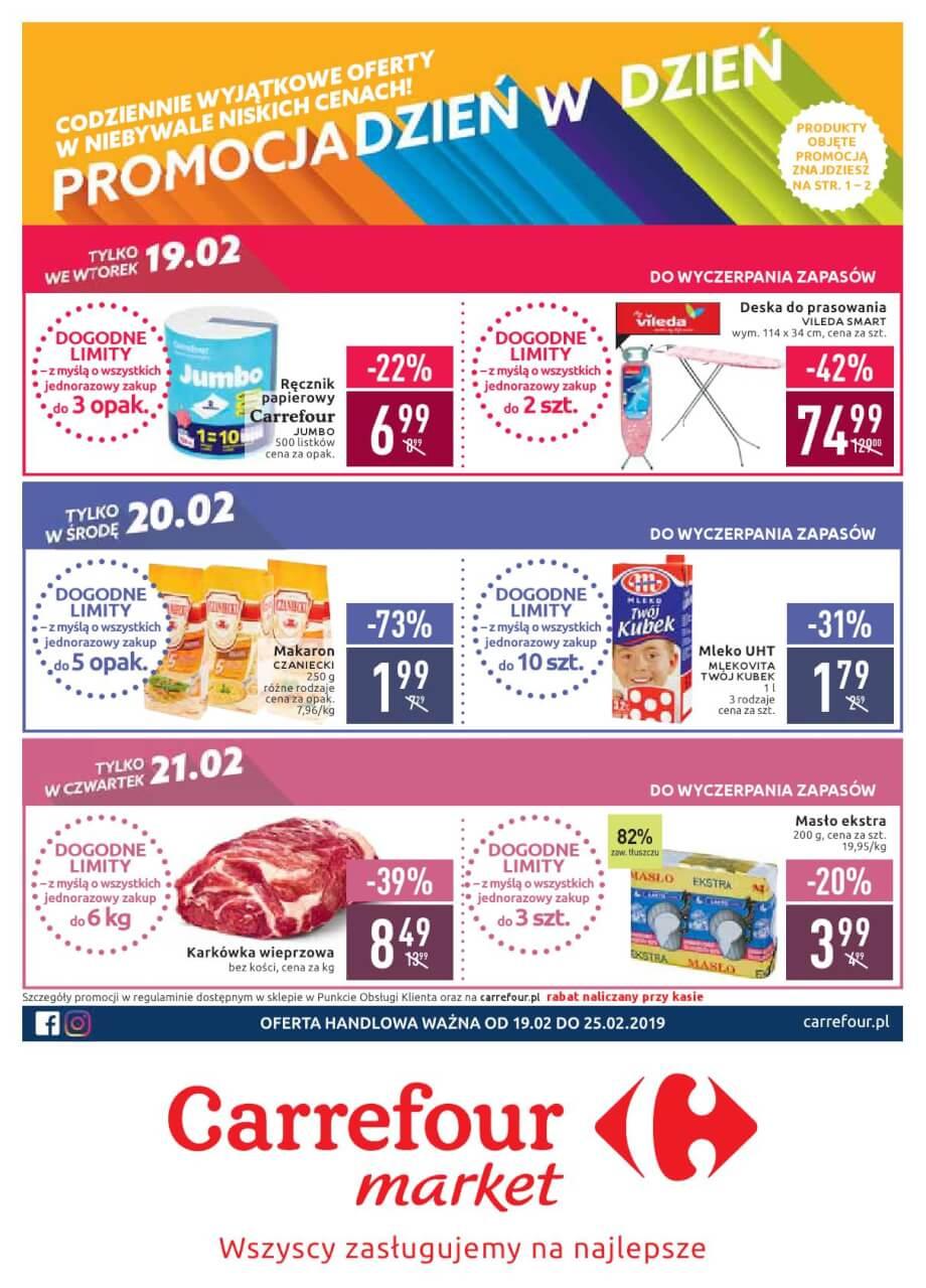 Carrefour Market, gazetka do 25.02.2019