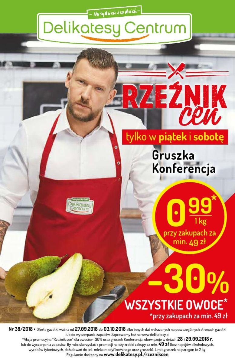 Delikatesy Centrum, gazetka do 03.10.2018