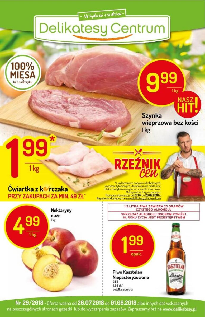 Delikatesy Centrum, gazetka do 01.08.2018