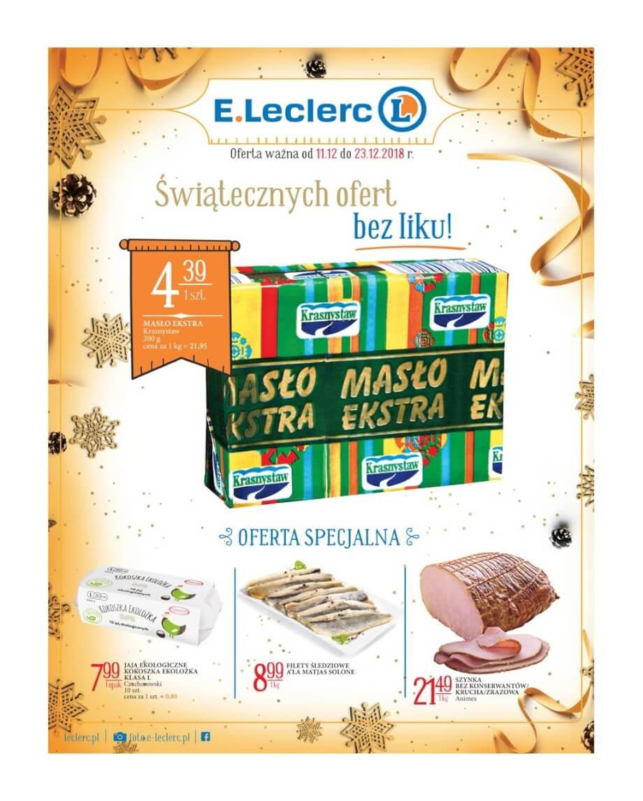 E.Leclerc, gazetka do 23.12.2018