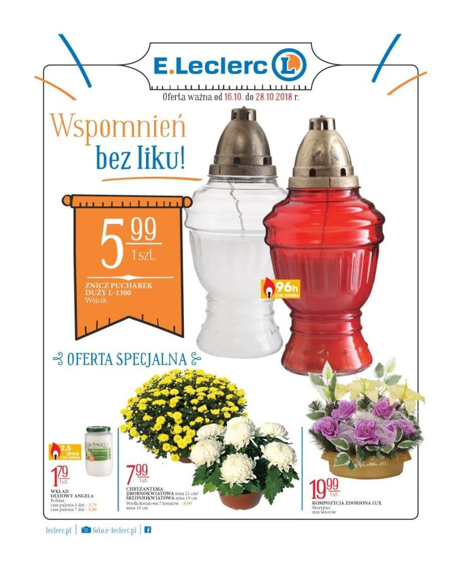 E.Leclerc, gazetka do 28.10.2018