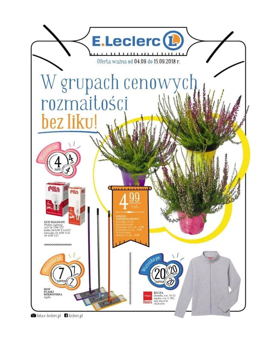E.Leclerc, gazetka do 15.09.2018