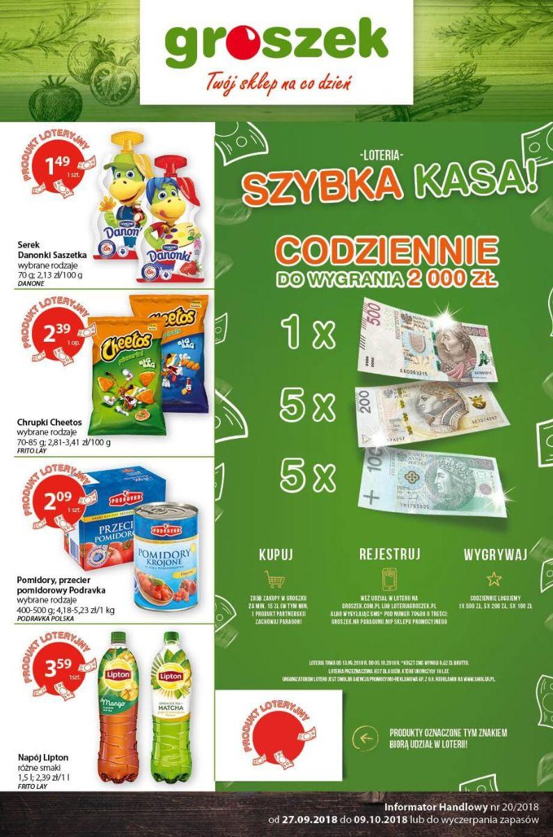 Groszek, gazetka do 09.10.2018