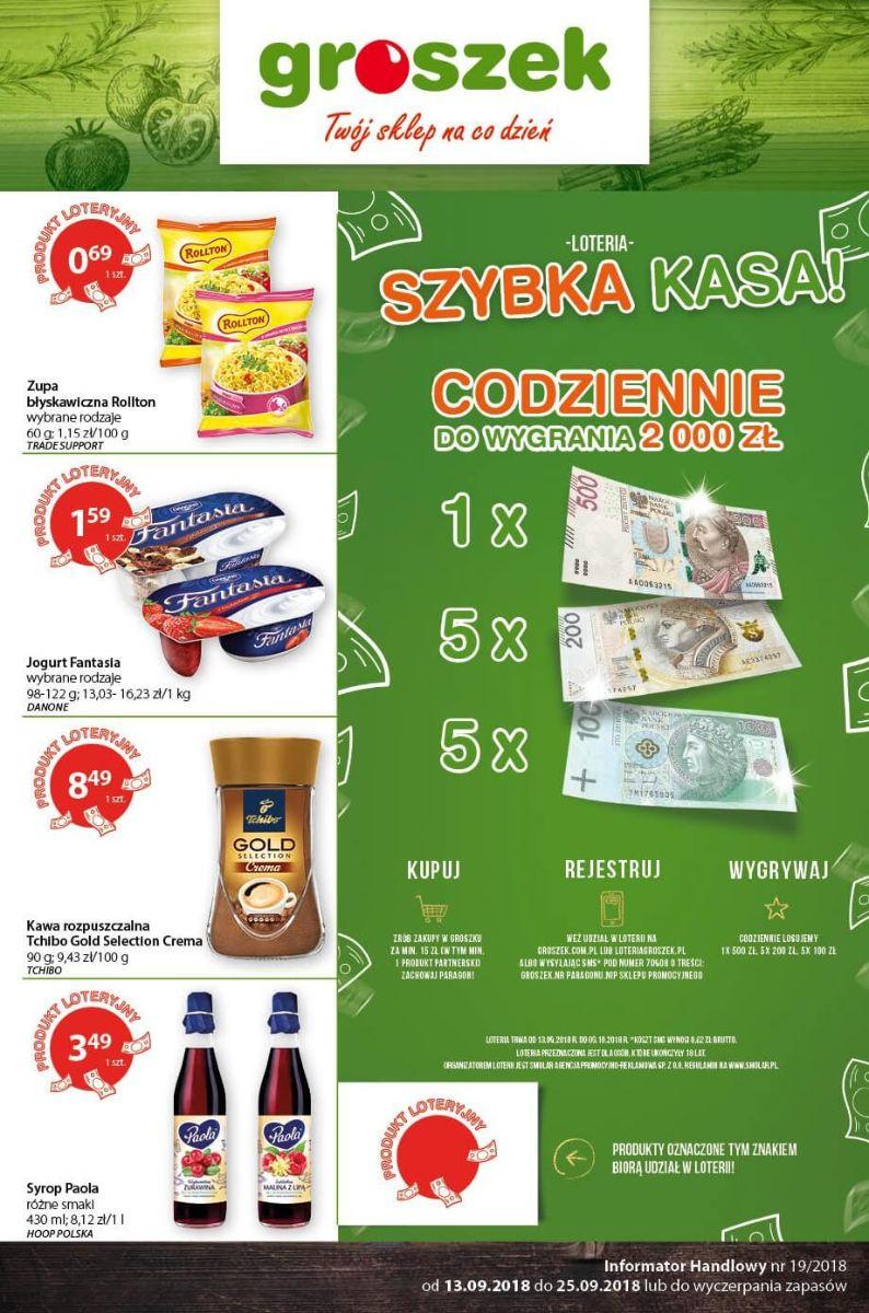 Groszek, gazetka do 25.09.2018