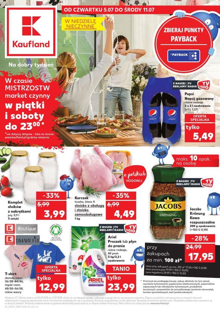 Kaufland, gazetka do 11.07.2018